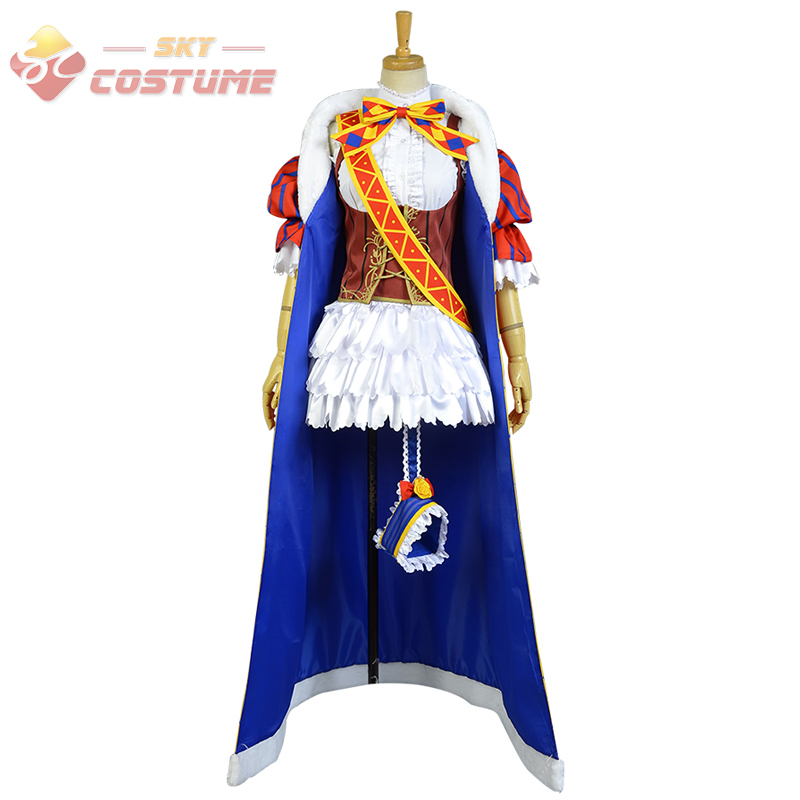 LoveLive! Love Live Wake Up Umi Sonoda Magicien Uniform Cloak Gloves Full Set Anime Halloween Cosplay Costumes For Women New uwowo sonoda umi wig love live hair 80 cm long blue straight heat resistant wig lovelive umi hair