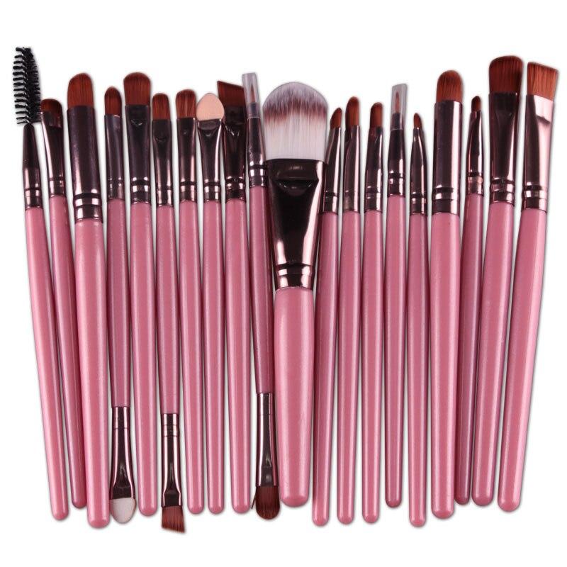 20pcs Eyes Brushes Set Eyeshadow Eyebrow Eyelashes Eyeliner Lip Makeup Brush Sponge Smudge Brush Cosmetic pincel maquiagem (8)