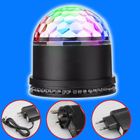 Sound Actived Auto RGB Mini Rotating Magic Disco Ball Strobe Stage Lights For DJ Dancing Show