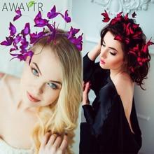 AWAYTR DIY Butterfly Crowns Hendband Simulation Girl Hairban