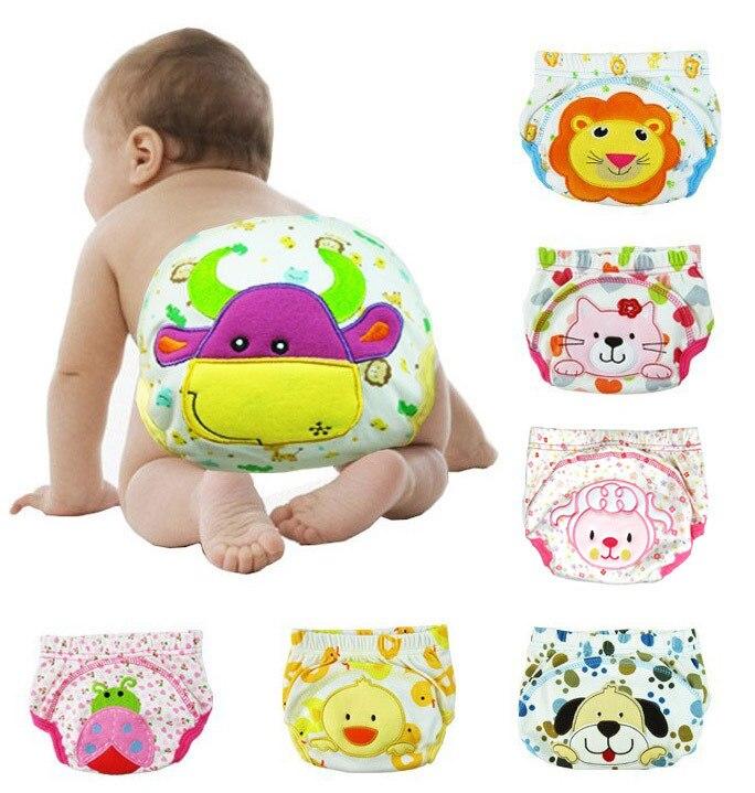 Детские тренировочные штаны, штаны для младенцев, 12 шт., милые шорты, 3 слоя, полностью защищают