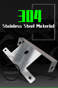 Image 4 - Motorcycle accessories 304 stainless steel license For Benelli tnt 300 302 250