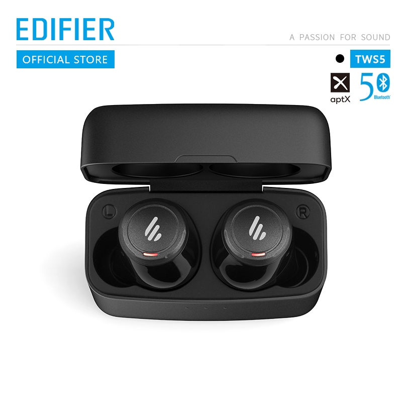 EDIFIER TWS5 Bluetooth V5.0 TWS Earbuds AptX Audio Decoding IPX5 Waterproof Touch Control Bluetooth Earphone Wireless Earphones