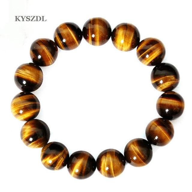 KYSZDL באיכות גבוהה טייגר עיניים האהבה בודהה צמידים & צמידים אופנתיים צמיד אבן טבעי תכשיטי גברים מותג מפורסם נשים