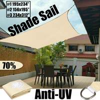 6x8m Waterproof Sun Shelter Sun Shade Protection Outdoor Canopy Garden Patio Pool Shade Sail Awning Camping Shade Cloth