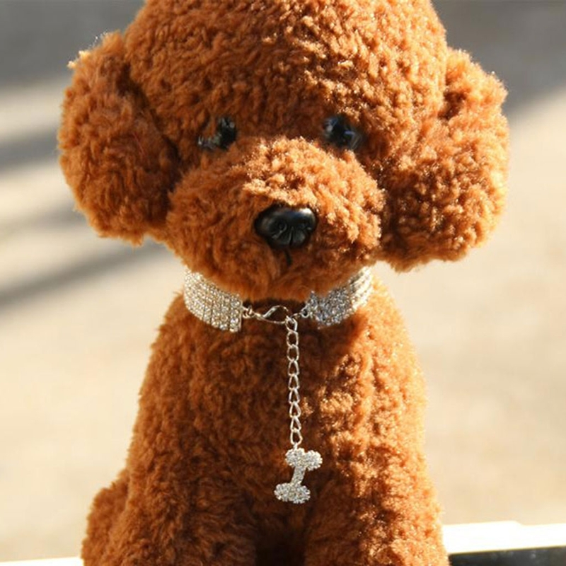 Bling Rhinestone Dog Collars Pet Crystal Diamond Pet Collar Size S/M/L Collars Leashes Necklace Dog Accessories Pet Supplies-m20