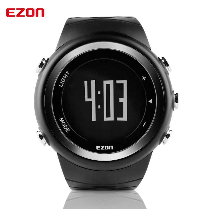 EZON Pedometer Calories Monitor Men Sports Watches Waterproof 50m Digital Watch Running Swimming Diving Wristwatch Montre Homme ezon pedometer optical sensor heart rate monitor alarm calories men sports watches digital watch running climbing wristwatch