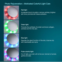 Ultrasonic 7 color LED Light Face Therapy, Face Lift/Cleaner/Anti Wrinkle