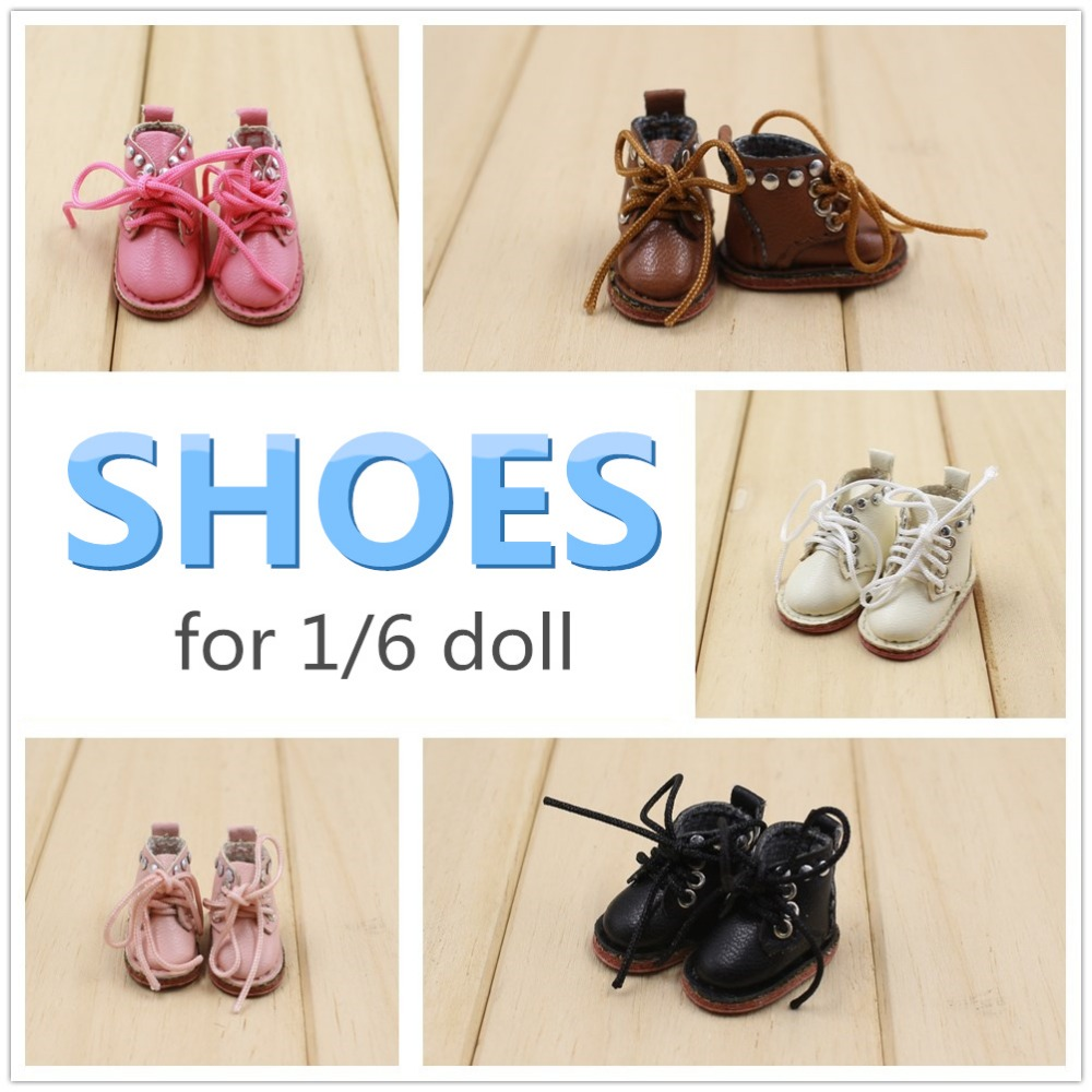 free shipping for 1/6 blyth doll licca body icy jecci five shoes boots gift toy 3cm 1pair shoessuitable for 1 6 doll normal doll joint doll bjd blyth icy jecci five licca body for 30cm doll shoes