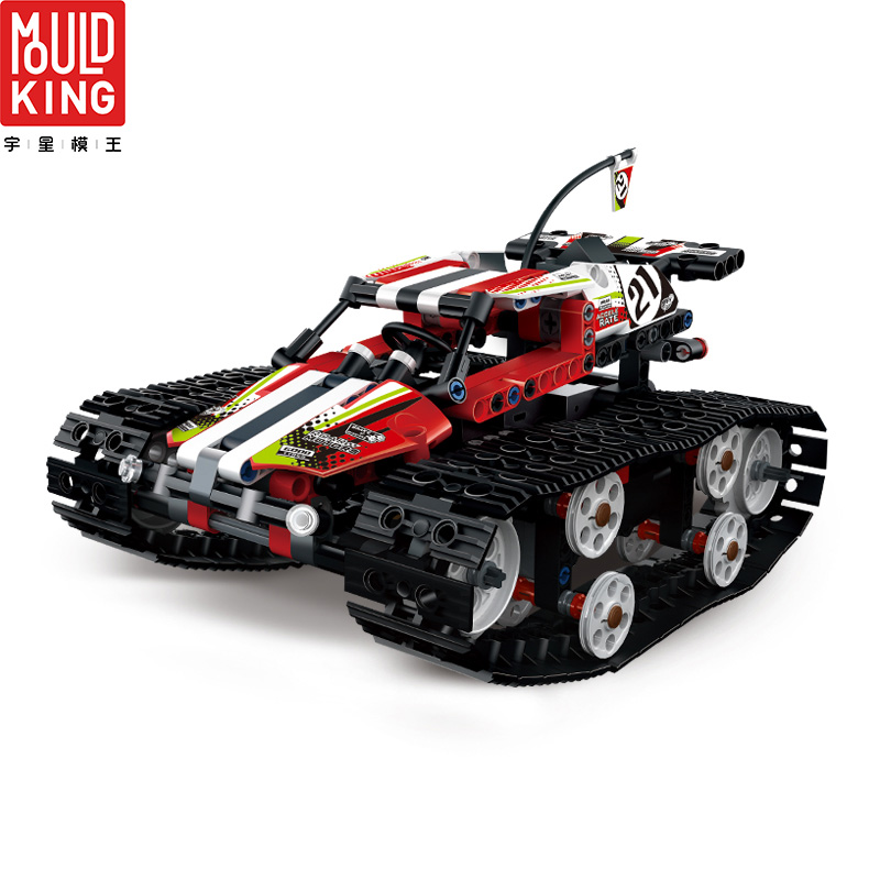 MOULD KING 13024 RC Crawler Racing Car Remote Control RC Tracked Racer Building Blocks City Technic