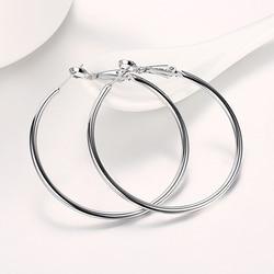 925 Silver Creole Circle Hoop Earrings For Women Christmas Earring Jewelry