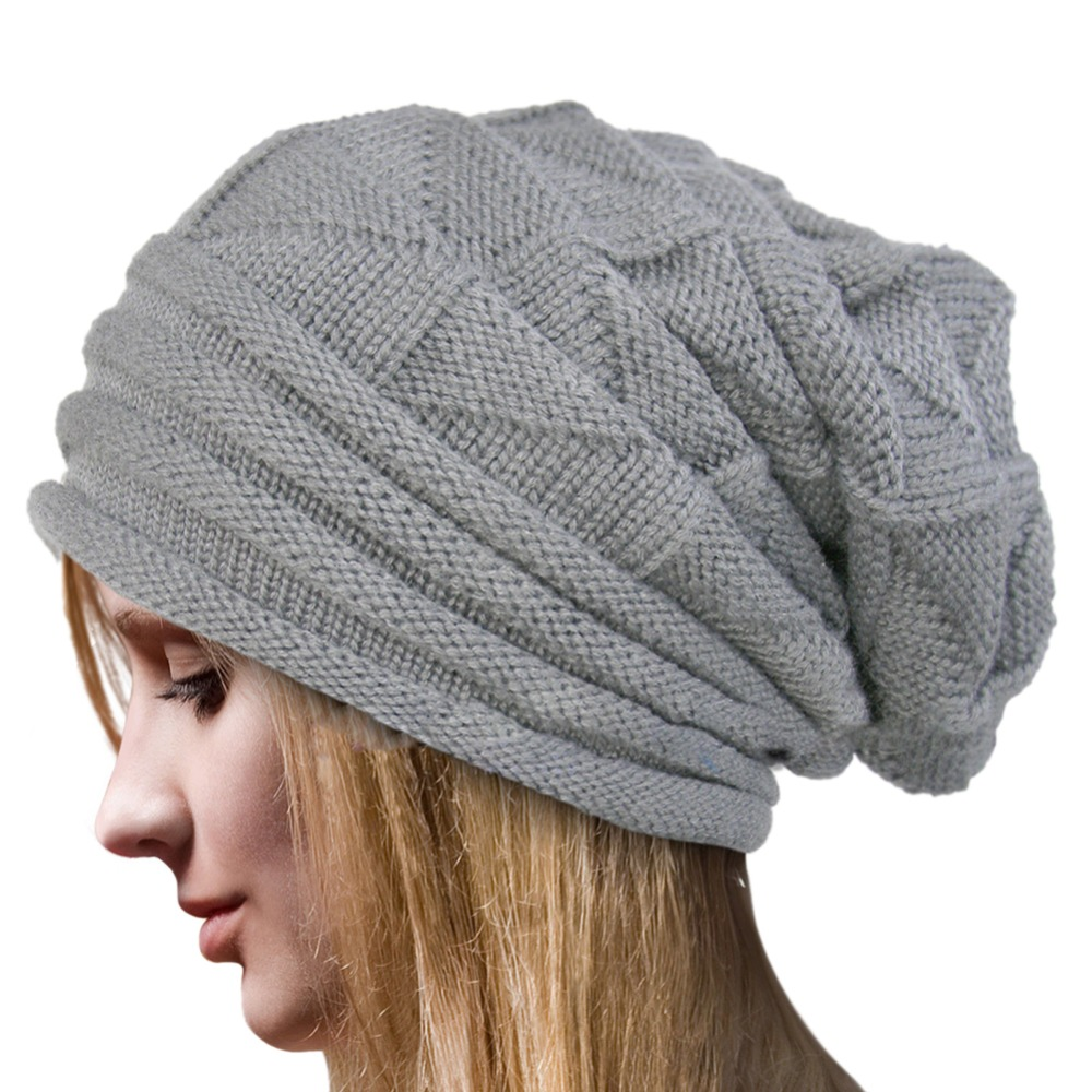 Fashion Women Winter Crochet Wool Knit Beanie Beret Cap Baggy Warm Hat new women winter crochet wool knit beanie beret ball cap baggy warm hat