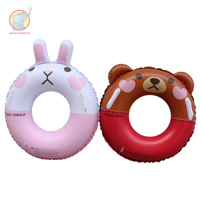 60cm 70cm inflatable cartoon brown bear donnie rabbit swimming ring