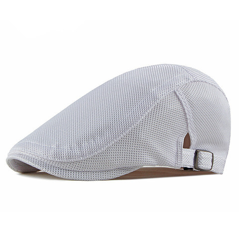 2019 Spring Summer Solid Color Mesh Newsboy Caps Men Cotton Flat Peaked Cap Women Painter Beret Hats 14 Lahore