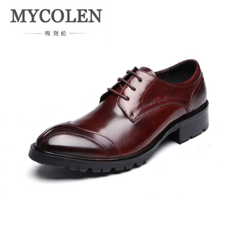 MYCOLEN Black Designer Formal Oxford Shoes Leather Gentleman Dress Shoes Men Business Wedding Shoes Sapato Oxford Masculino oxford borboniqua oxford