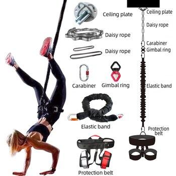 جديد المهنية اليوغا بنجي أجهزة لياقة بدنية كاملة مجموعة ممارسة المقاومة الحبل حزام بنجي الرقص حبل الجاذبية تجريب