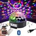 9 цветов сценический светильник светодиодный Bluetooth динамик 18 Вт DJ сценический светильник лазерная проекционная лампа с MP3-плеером Выпускной...