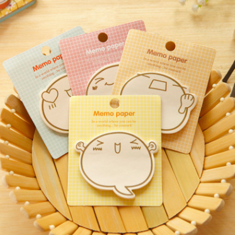 DHL 300PCS N Times Cute Expression Post It Kawaii Sticky Notes 4 Kinds Pattern Memo Pad Korean Stationery Office School Supplies