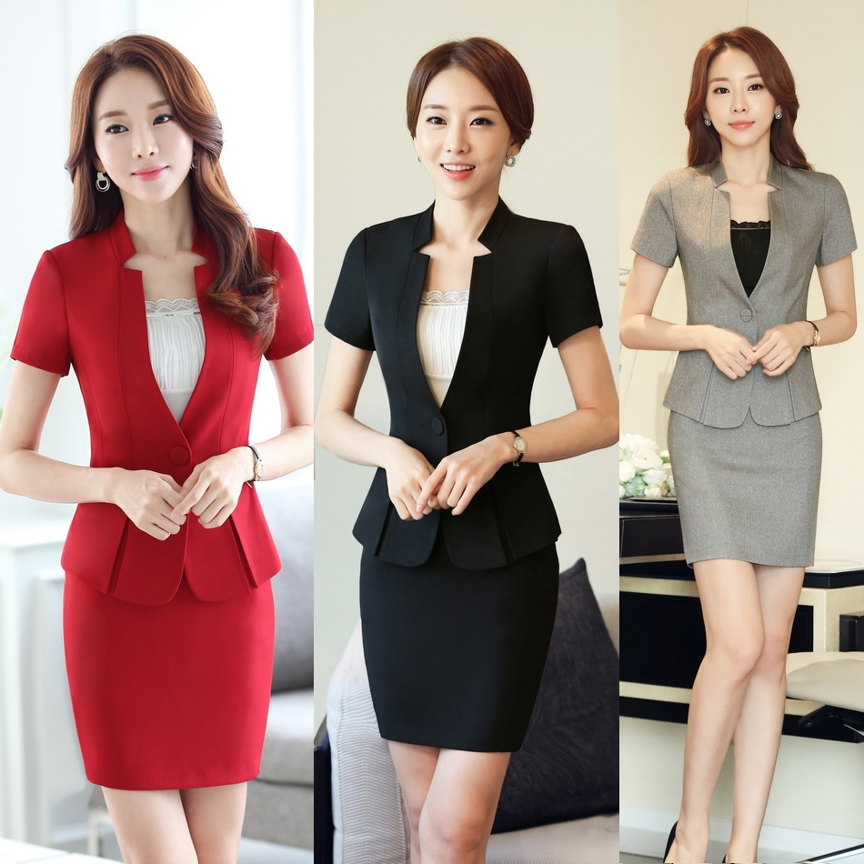 Popular ladies office uniform buy cheap ladies office for Bureau uniform