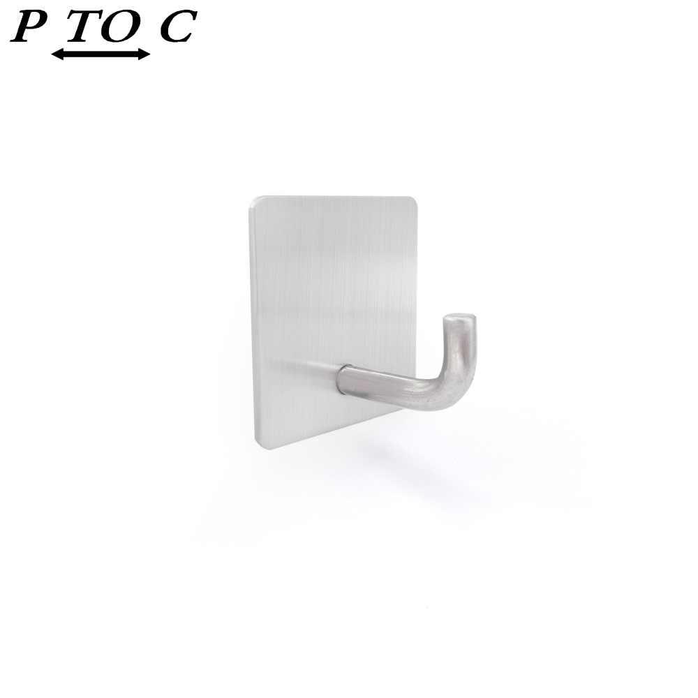 PTOC 2 sztuk klej 304 ze stali nierdzewnej hak ścienny hak do drzwi ściany wieszak na klucze szyny do kuchni szydełka
