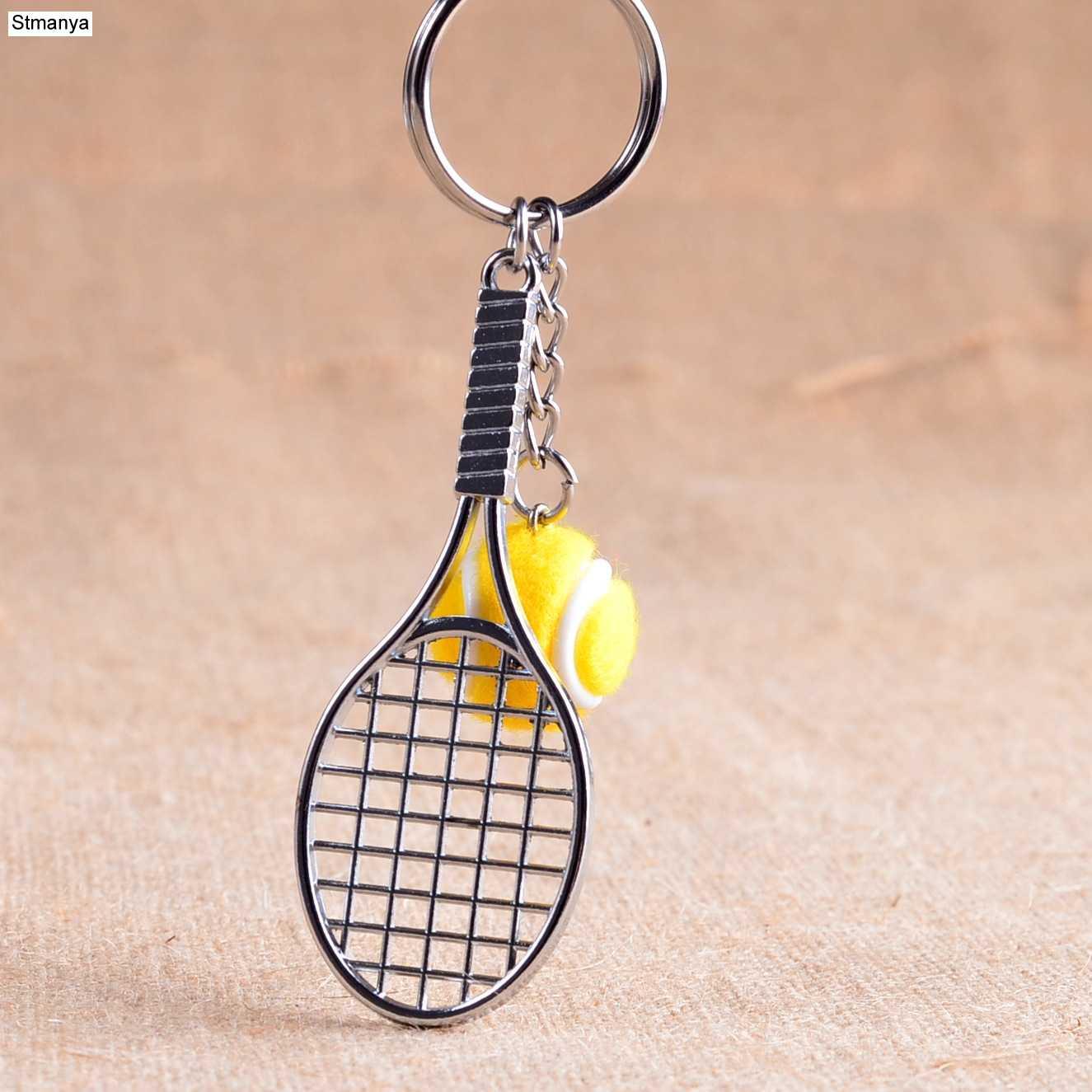 Raquete de tênis Chaveiro-6 cor Bonito Esporte Mini carro Chaveiro Pingente Chaveiro Chaveiro Esportes Que gostam de esportes Presentes 17248