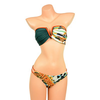 Sexy Leopard Print V Wire Bandeau Top Bikini Set Swimwear Straps Bathing Suit Swimsuit bikini Women Bikinis bikiny 2017 New