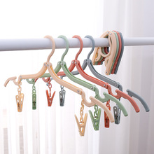 New creative folding drying rack with clip multi-purpose travel portable household items