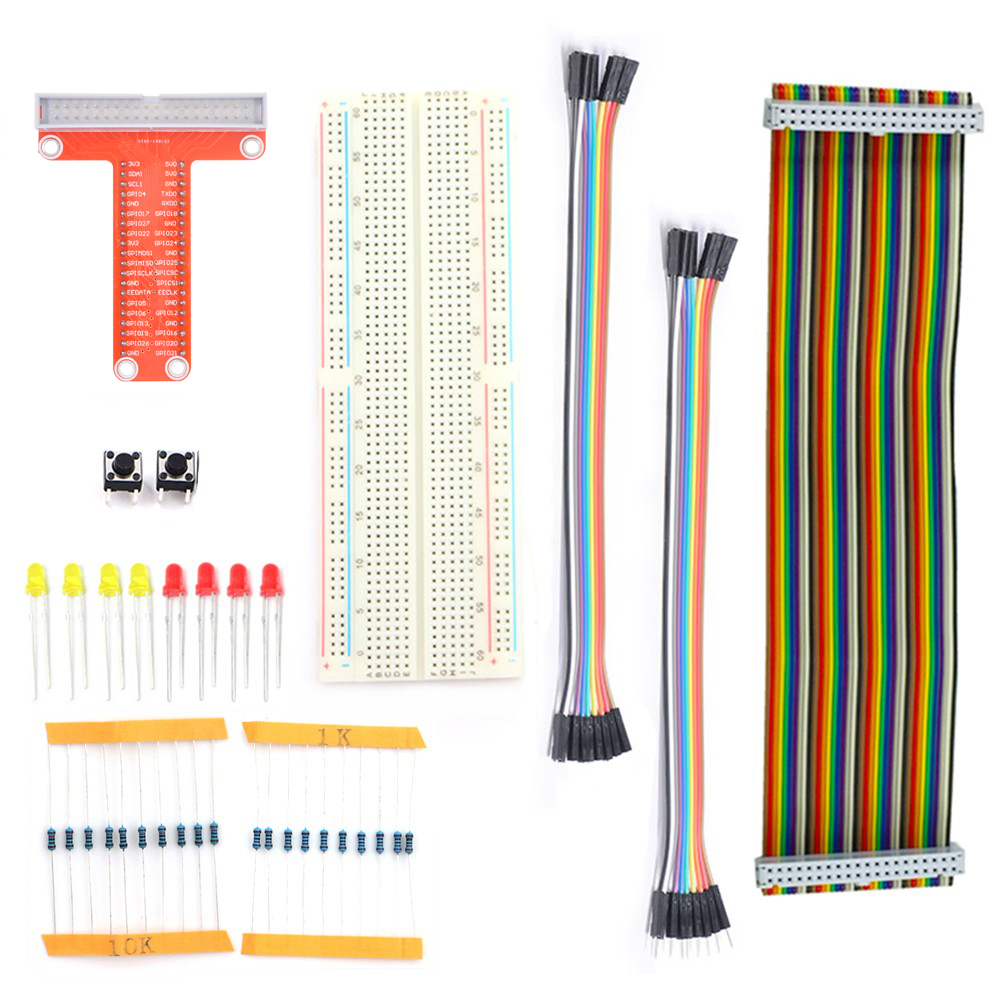 Rasberry Pi 2 Kit 40pin GPIO Cable / 40pin GPIO Extension Board / 830 Points Breadboard for Raspberry Learning SuitRasberry Pi 2 Kit 40pin GPIO Cable / 40pin GPIO Extension Board / 830 Points Breadboard for Raspberry Learning Suit