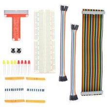Ahududu Pi 2 Kiti 40pin GPIO Kablo/40pin GPIO uzatma prizi/830 Puan Breadboard Ahududu Öğrenme için Suit