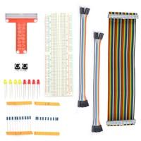 Rasberry Pi 2 Kit 40pin GPIO Cable 40pin GPIO Extension Board 830 Points Breadboard For Raspberry