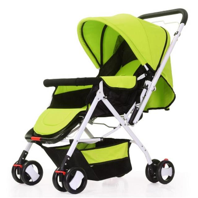 New Arrives High Landscape Safety Baby Pram Can Sit Can Lie Shockproof Baby Stroller Foldable Easy To Carry Baby Car