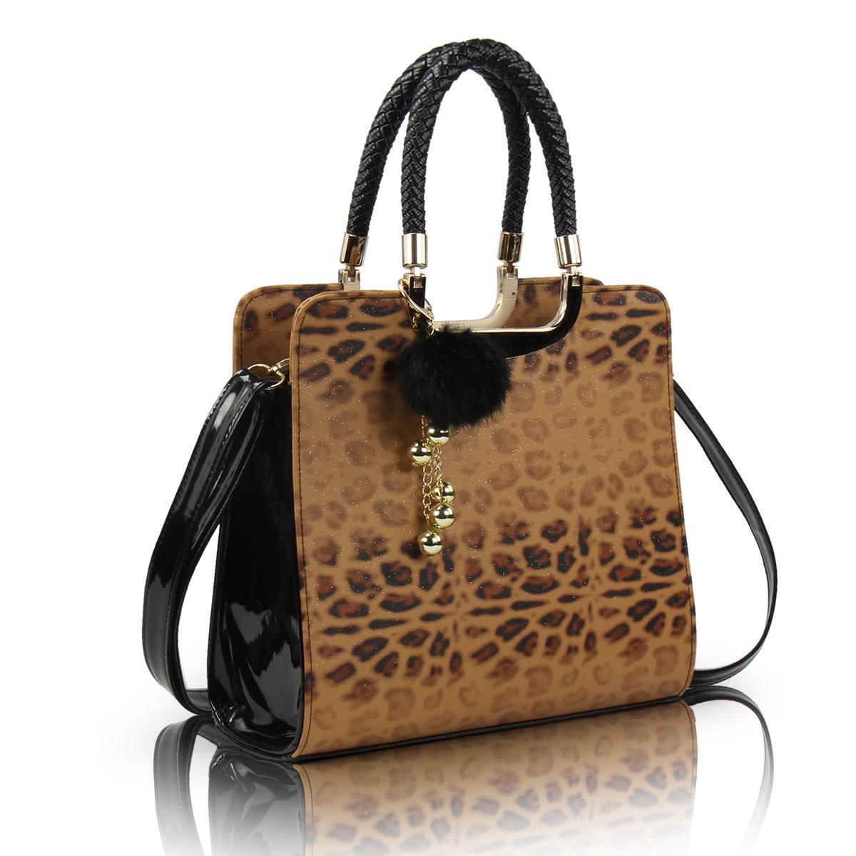 Women's handbag 2013 leopard print bags color block bag women's handbag one shoulder cross-body dual-use package