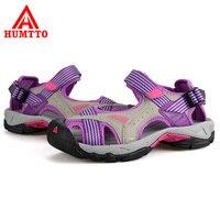HUMTTO 여성 샌들 아쿠아 신발 야외 해변 미끄러짐 방지 통기성 스포츠 샌들 빠른 건조 물 산책 상류 신발