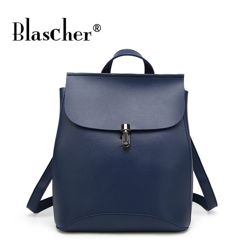 Blascher Brand High Quality Cow Split Leather women backpack vintage backpack for teenage girls casual bags