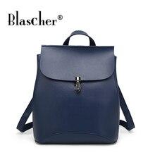 Blascher бренд высокое качество корова Разделение кожа Женщины Рюкзак Vintage рюкзак для девочек-подростков повседневные сумки женские сумки на ремне