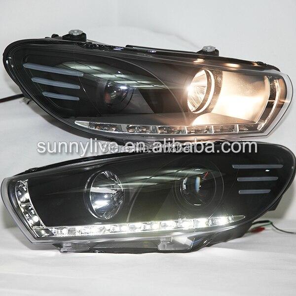 Lampe frontale LED pour VW Scirocco 2008 à 2015 voiture d'origine avec moteur automatique