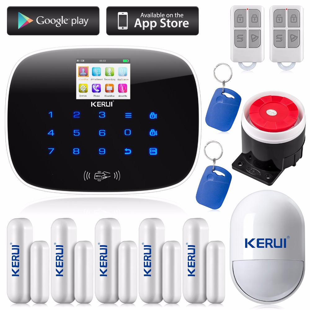KERUI Wireless 433MHZ GSM SMS Home Burglar Security Alarm System Detector Sensor Kit Remote Control