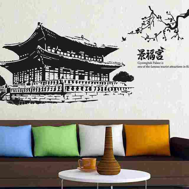 Aliexpress.Com : Buy Gyeongbokgung Palace Decal Landmark Korea
