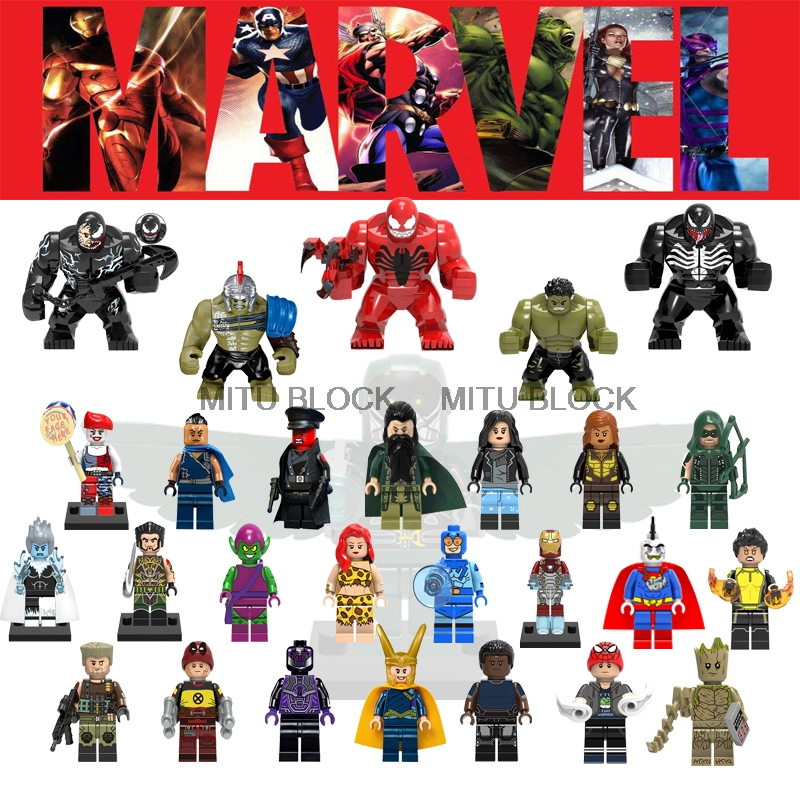 Blocks Model Building Responsible 20pcs Series Super Heroes Action Spider Man Model Batman Assemble Education Building Blocks For Children Toys Best Gift Eg110
