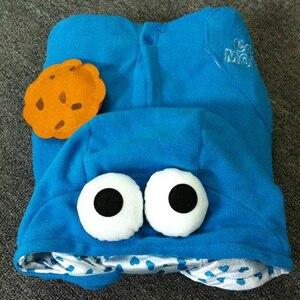 Image 5 - Azul conjuntos de pijamas de franela Animal pijama kugurumi de invierno de punto ropa de dormir de las mujeres de los hombres adultos camisón de dibujos animados de sésamo calle pijama