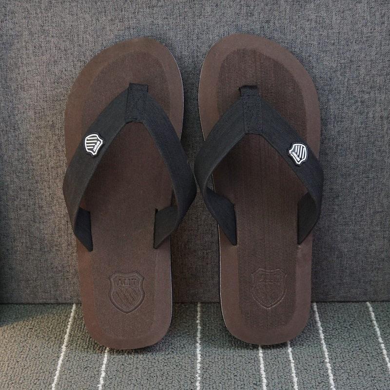 ; летние пляжные шлепанцы; мужские вьетнамки высокого качества; пляжные сандалии; zapatos hombre; Повседневная обувь; ; WS321 - Цвет: Brown