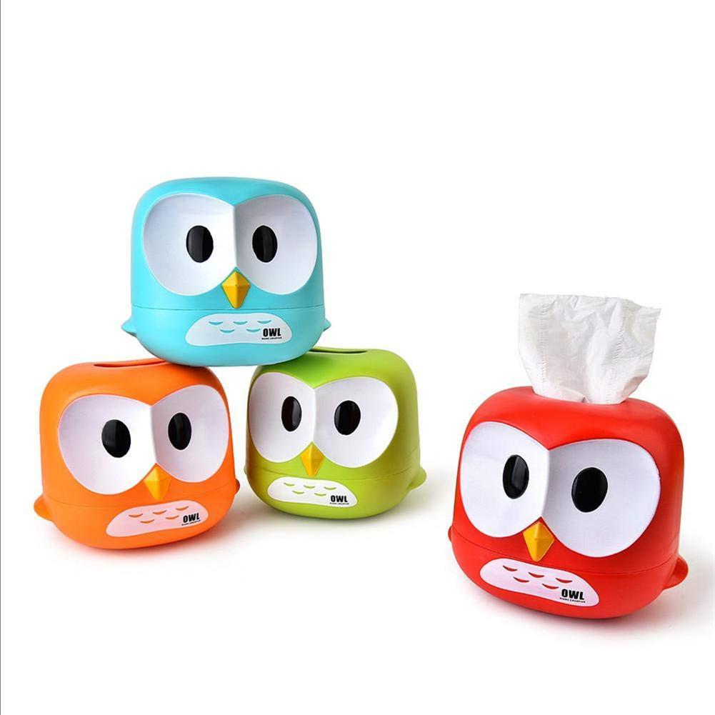 1pc Owl Towel Cart Cartoon Owl Roll Paper Storage Box Housekeeping Organization Plastic Big Eyehawk Tissue Box