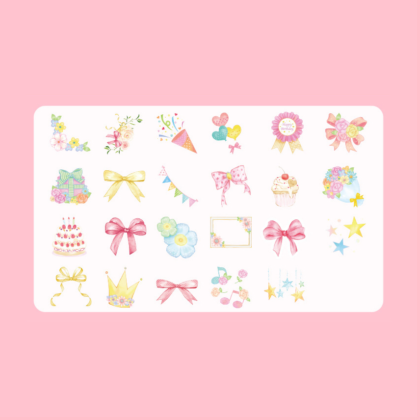 20packs lot Stationery Sticker Creativa Lovely Sweet Party Boxed Stickers Scrapbooking Stationery Stationery in Stationery Stickers from Office School Supplies