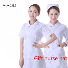 women white Pink blue Medical Short sleevesClothing Medical Services Uniform Nurse Clothing Long-sleeve  cotton Protect lab coat