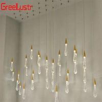 Luxury Creative Crystal Led Chandelier Pendant Lamp Gold Water drop Crystal Chandeliers LED Lamp Indoor Home Lighting Fixtures