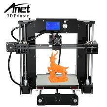 ANET Actualizado A6 Alta precisión impresora 3D Prusa i3 de precisión con 1 Rollo de Filamento 16 GB tarjeta SD de Alta calidad Perilla de LCD pantalla