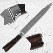 8 zoll schneiden küchenmesser edelstahl laser Damaskus muster klinge superb sharp kochen werkzeuge farbe holzgriff heiße verkäufe