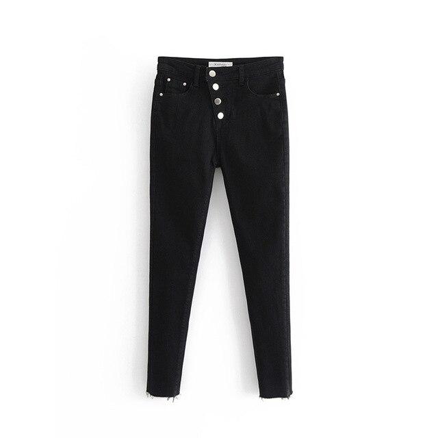 כוכב 60-8432 Euro-אמריקאי אופנה אלכסוני אבזם גוף בעיצוב מים-שטף ג 'ינס