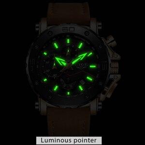 Image 5 - 2020 LIGE Watch Luxury Brand Men Analog Leather Sport Watches Mens Army Military Watch Male Date Quartz Clock Relogio Masculino