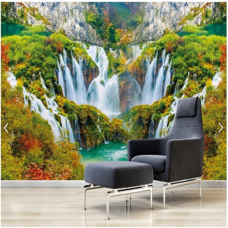 3d landscape murals mural wall bedroom waterfall living background custom
